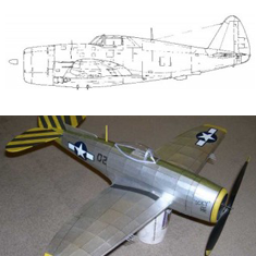 #P89. REPUBLIC P-47D/N THUNDERBOLT WW2 USAAF FIGHTER/FIGHTER- BOMBER