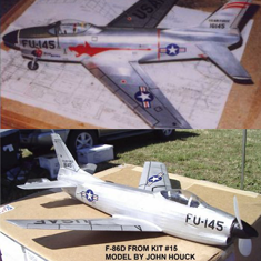 KIT # 15. NORTH AMERICAN F-86D SABRE JET
